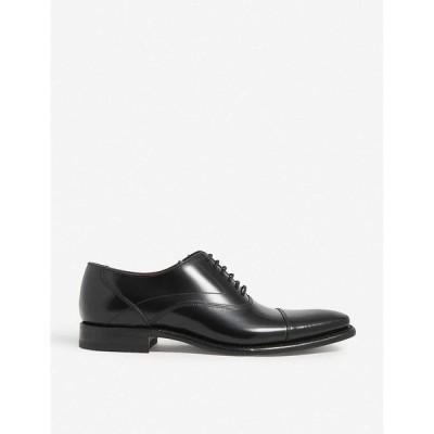 ローク LOAKE メンズ 革靴・ビジネスシューズ シューズ・靴 Sharp leather Oxford shoes BLACK