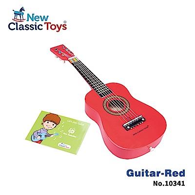 荷蘭New Classic Toys 幼兒音樂吉他-櫻桃紅(10341)
