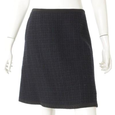 【フォクシー】Foxey ツイード スカート 34492 ネイビー 40 【中古】【正規品保証】69984