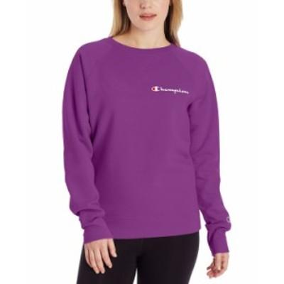 チャンピオン レディース シャツ トップス Women's Powerblend Logo Sweatshirt Flashy Magenta