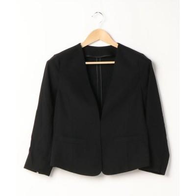 ジャケット ブルゾン 春夏もさっと羽織れるきちんと見えジャケット