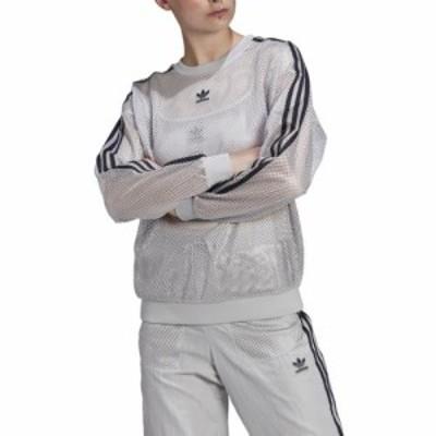 (取寄)アディダス オリジナルス レディース メッシュ クルー adidas originals Women's Mesh Crew Light Solid Grey