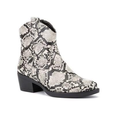 オリビアミラー ブーツ&レインブーツ シューズ レディース 'Secret Keeper' Ankle Boots Grey Snake