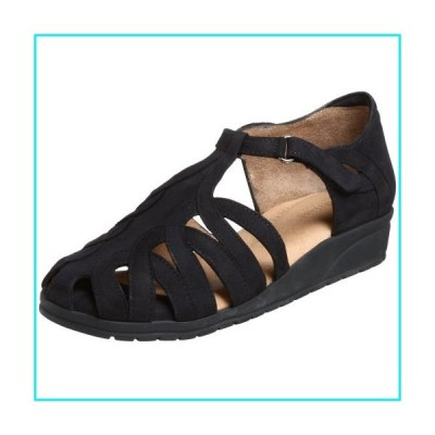 BeautiFeel Women's Brazil Wedge Sandal, Black Nubuck【並行輸入品】