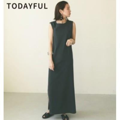 【SALE】【40%OFF】TODAYFUL トゥデイフル LIFEs ライフズ Dobbystripe Slit Dress ドビーストライプスリットドレス 12010324【2020】【