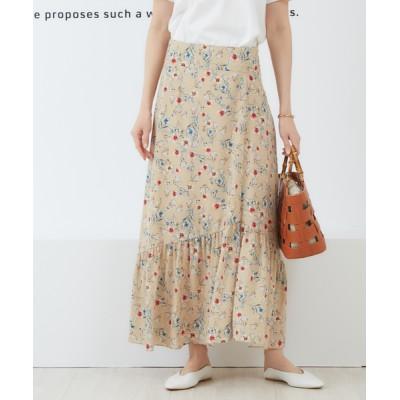 Rouge vif la cle / フレンチフラワープリントスカート WOMEN スカート > スカート