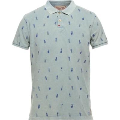 テイクアウェイ TAKE A WAY CLOTHING メンズ ポロシャツ トップス Polo Shirt Pastel blue