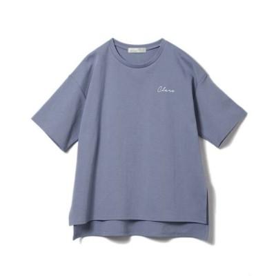 CLEAR IMPRESSION/クリアインプレッション 《INED CLARO》CLAROロゴプリントTシャツ ブルー1 00