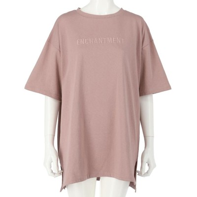 ANAP 刺繍オーバーサイズTシャツ(ピンク)