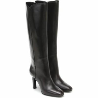 イヴ サンローラン Saint Laurent レディース ブーツ シューズ・靴 jane 95 leather boots Mocaccino (Gold Officier)