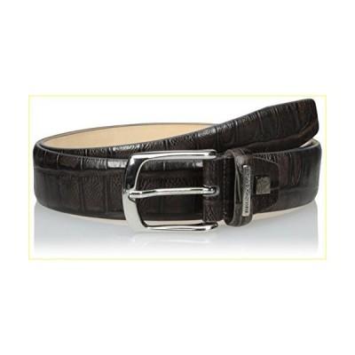 【並行輸入品】Bruno Magli Men's Crock Stamp Belt, Grey, 38