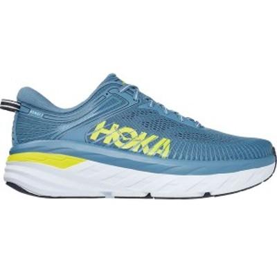 ホッカオネオネ メンズ スニーカー シューズ Bondi 7 Running Shoe Provincial Blue/Citrus