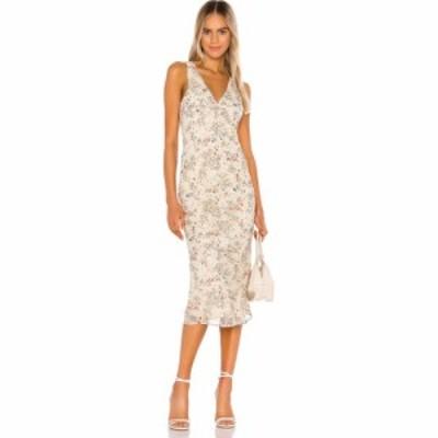 トゥラロサ Tularosa レディース ワンピース ワンピース・ドレス Effie Bias Dress Cream Jasmine Floral