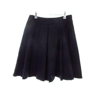 【中古】クチュールブローチ COUTURE BROOCH スカート プリーツ ひざ丈 無地 40 紺 ネイビー /M2 レディース 【ベクトル 古着】