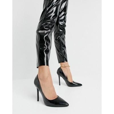グラマラス レディース オックスフォード シューズ Glamorous high-heel pumps in black patent Black patent