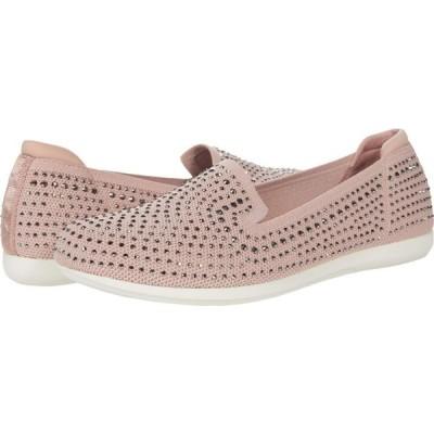 クラークス Clarks レディース ローファー・オックスフォード シューズ・靴 Carly Dream Dusty Pink Knit/Sparkles