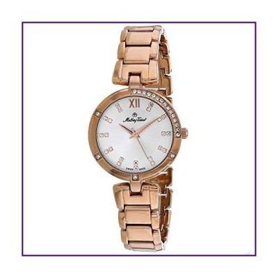 MATTHEY-TISSOT Women's Quartz Stainless Steel Strap, Rose Gold, 16 Casual Watch (Model: D2583PI)【並行輸入品】