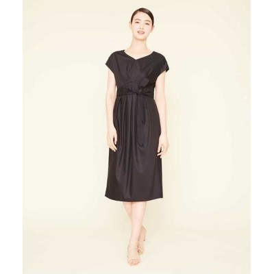 Sybilla/シビラ ポリエステルレーヨンデザインドレス ブラック L