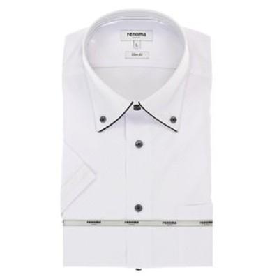 アイスカプセル形態安定スリムフィット ドゥエボタンダウン半袖シャツ