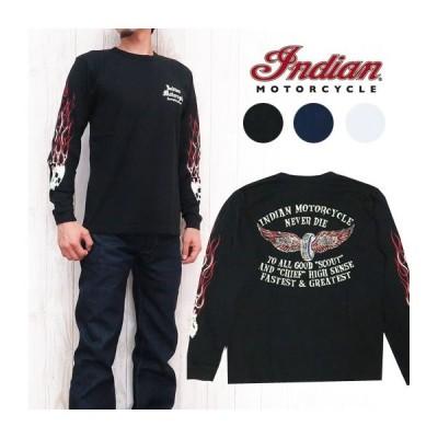 インディアンモーターサイクル Indian Motorcycle 長袖 Tシャツ プリント フライングホイール バイカー im67738