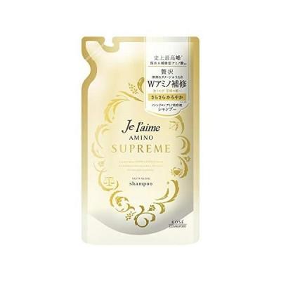 KOSE コーセー ジュレーム アミノ シュープリーム シャンプー (サテンスリーク) さらさら つめかえ 350mL ローズ&ジャスミンの香り 詰替