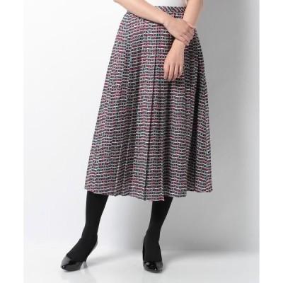 Leilian / レリアン 総柄プリーツスカート