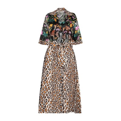 SHIRTAPORTER 7分丈ワンピース・ドレス ブラック 40 シルク 94% / ポリウレタン 6% / コットン 7分丈ワンピース・ドレス