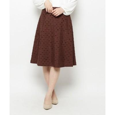 スカート ドットジャガードスカート