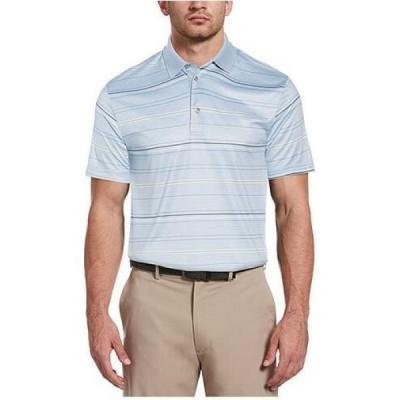ピージーエーツアー PGA TOUR メンズ ポロシャツ 大きいサイズ トップス Big and Tall Striped Polo Shirt Blue Fog