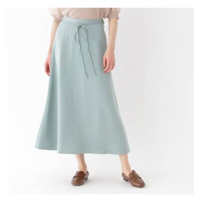 【AG バイアクアガール/AG by aquagirl】 【洗える/Lサイズあり】マットサテンロングフレアスカート