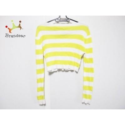 エムエスジィエム MSGM 長袖セーター サイズS レディース イエロー×白 ボーダー 新着 20200315