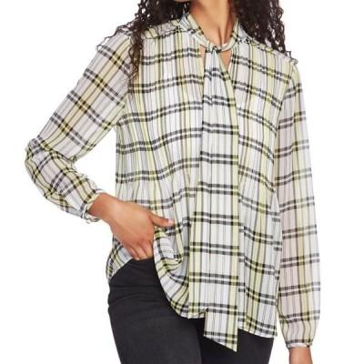 レディース 衣類 トップス Women's Blouse Black Pintuck Plaid Tie Neck XS ブラウス&シャツ