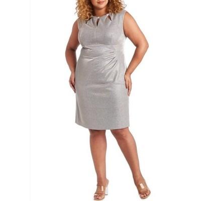 アールアンドエムリチャーズ レディース ワンピース トップス Plus Size Cap Sleeve Shimmer Keyhole Neck Sheath Dress Champagne