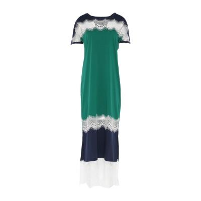ツインセット シモーナ バルビエリ TWINSET ロングワンピース&ドレス グリーン XXS コットン 100% / ポリエステル / ナイロン