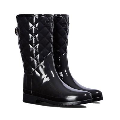 ハンター ウィメンズ レディース リファインド キルテッド グロス ショート Hunter Womens Refined Gloss Quilt Short Boots レインブーツ レインシューズ 防水