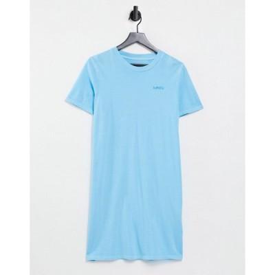 リーバイス ミディドレス レディース Levi's t-shirt dress in blue エイソス ASOS ブルー 青