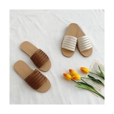MINIBBONG レディース サンダル Morris punching slippers sandals