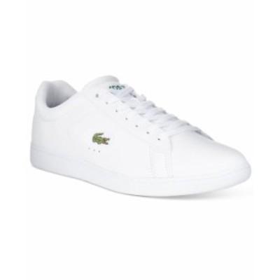 ラコステ メンズ スニーカー シューズ Men's Carnaby Leather Sneakers White
