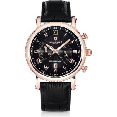 ランカスター Lancaster メンズ 腕時計 クロノグラフ Monarch Chronograph Rose Gold Stainless Steel Watch Black