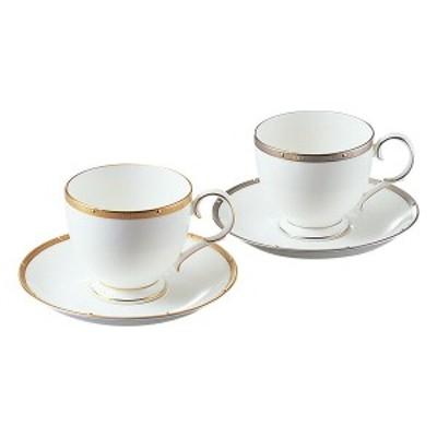 【Noritake(ノリタケ)】  ROCHELLE GOLD & PLATINUM  (ロシェルゴールド・プラチナ) ティー・コーヒー碗皿ペアセット (色変り)
