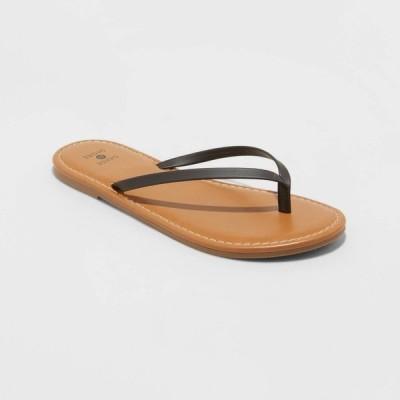 シェード&ショア Shade & Shore レディース ビーチサンダル シューズ・靴 Ava Skinny Strap Flip Flop Sandals - Shade and Shore Black