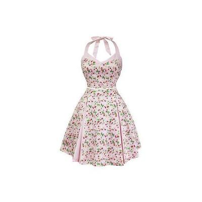 現地バイヤーおすすめ ドレス ワンピース Whispeリング Ivy ピンク Cherry Gingham Flaレッド 50s ビンテージ パーティ Tea ドレス