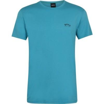 ヒューゴ ボス Boss メンズ Tシャツ トップス Curved T Shirt Open Blue