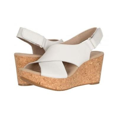 Clarks クラークス レディース 女性用 シューズ 靴 ヒール Annadel Parker - White Leather
