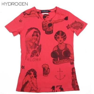 【送料無料】 ハイドロゲン(HYDROGEN) レディース TATOO 半袖 Tシャツ カットソー 141047 679  DB14S