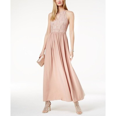 モルガン Morgan & Company レディース パーティードレス ワンピース・ドレス Sequined Lace Gown Rose/gold