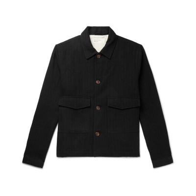 UNIVERSAL WORKS シャツ ブラック M コットン 52% / ウール 48% シャツ