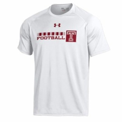Under Armour アンダー アーマー スポーツ用品  Under Armour Temple Owls White Football DNA Tech Performance T-Shirt