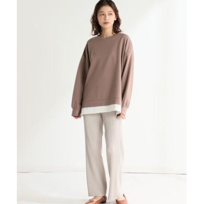 (Honeys/ハニーズ)裾みせかけプルオーバー/レディース ブラウン