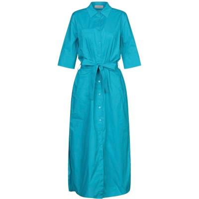 ツインセット シモーナ バルビエリ TWINSET ロングワンピース&ドレス ターコイズブルー 38 コットン 96% / ポリウレタン 4% ロン